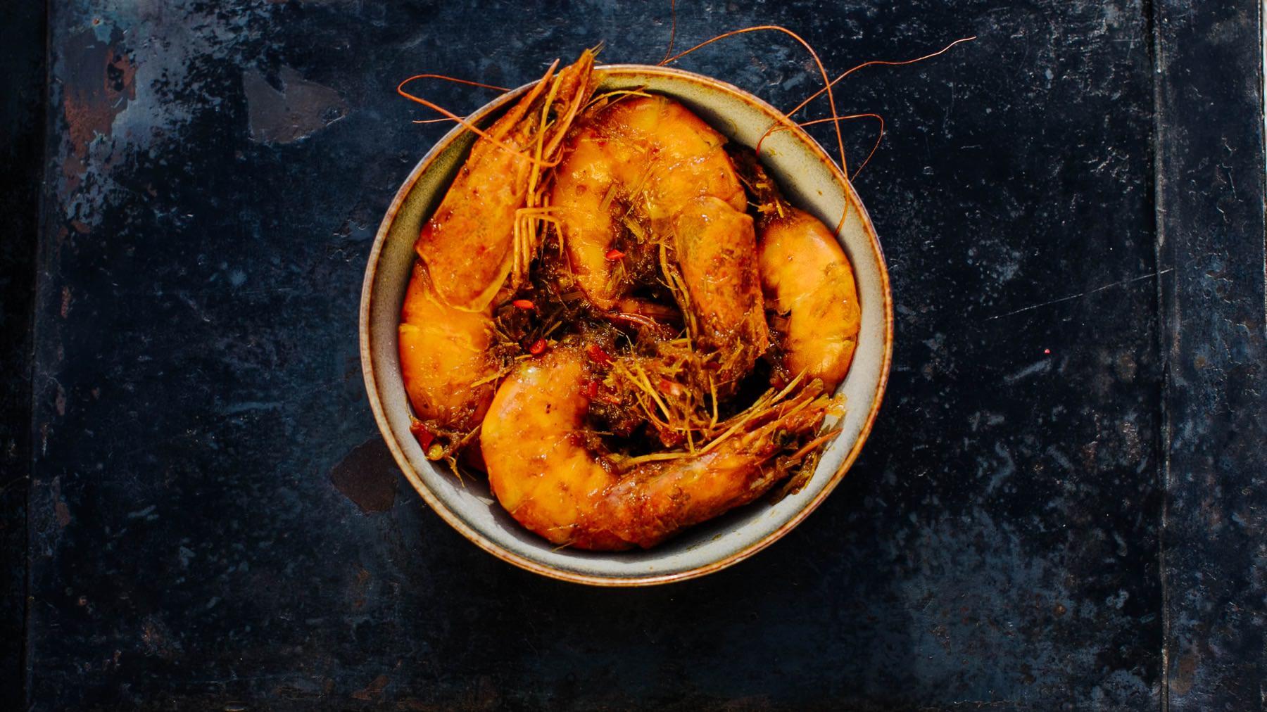 Garnelen Curry aus Malaysia mit Tamarinde