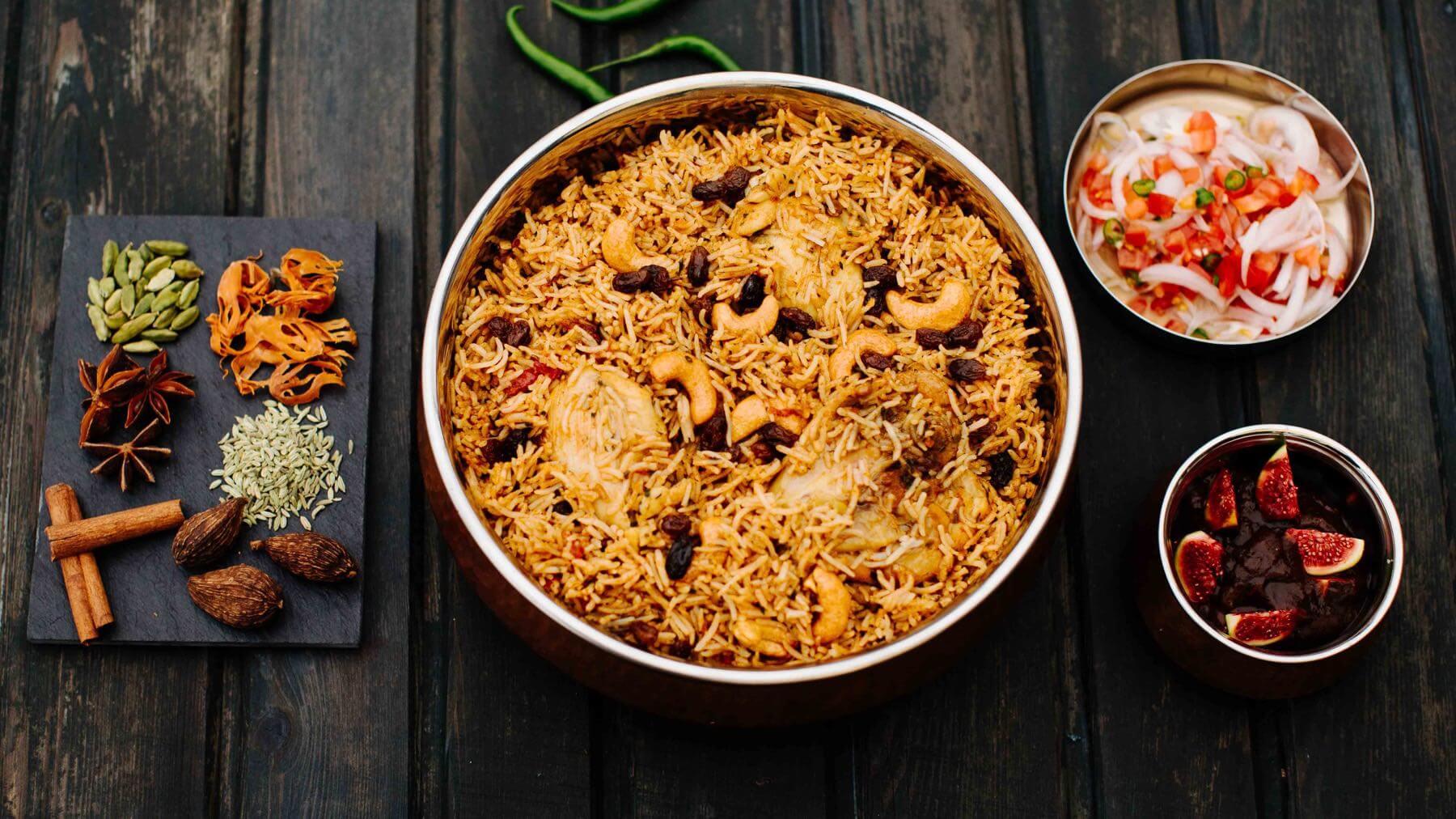 Biryani mit Huhn aus Kerala
