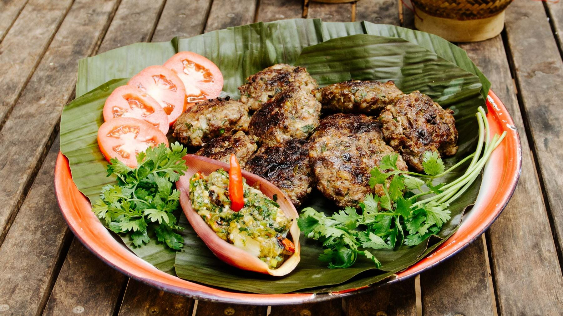 Gegrillte Hamburger Luang Prabang Style