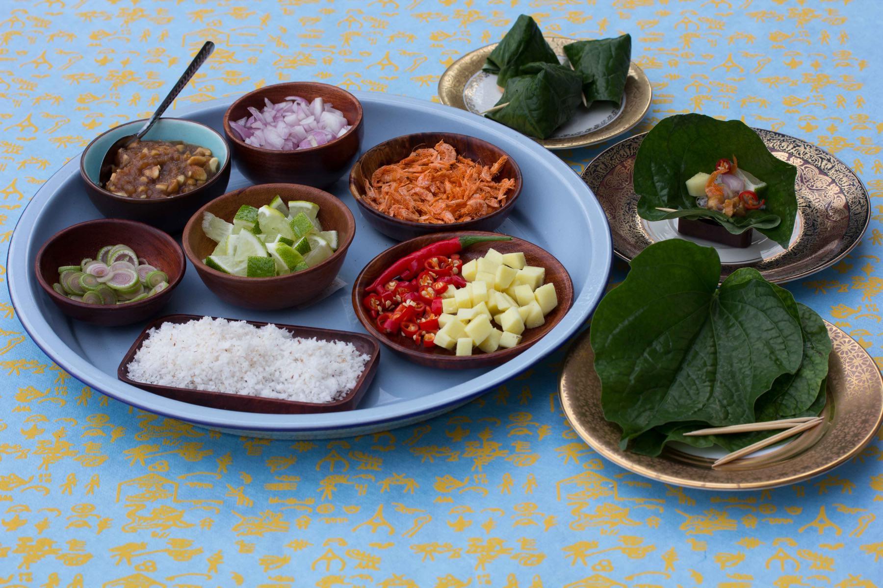 Snack im Pfefferblatt - Miang Kam
