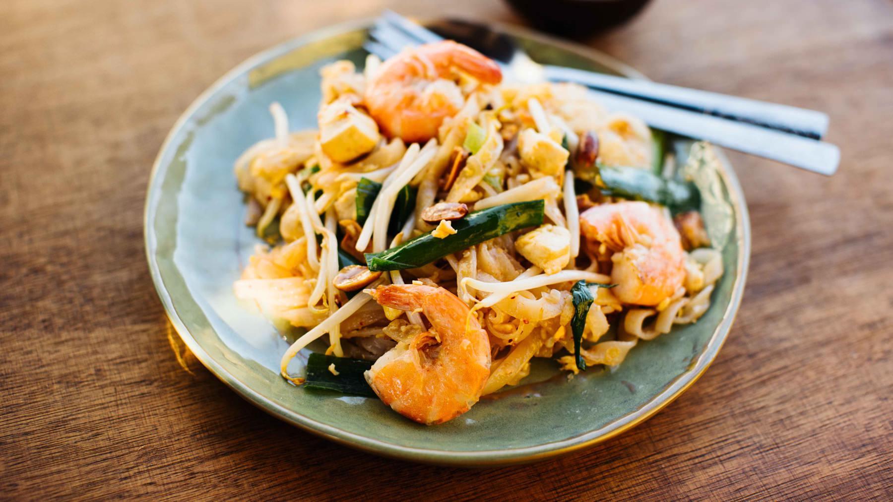 Pad Thai - Gebratene Thai-Nudeln