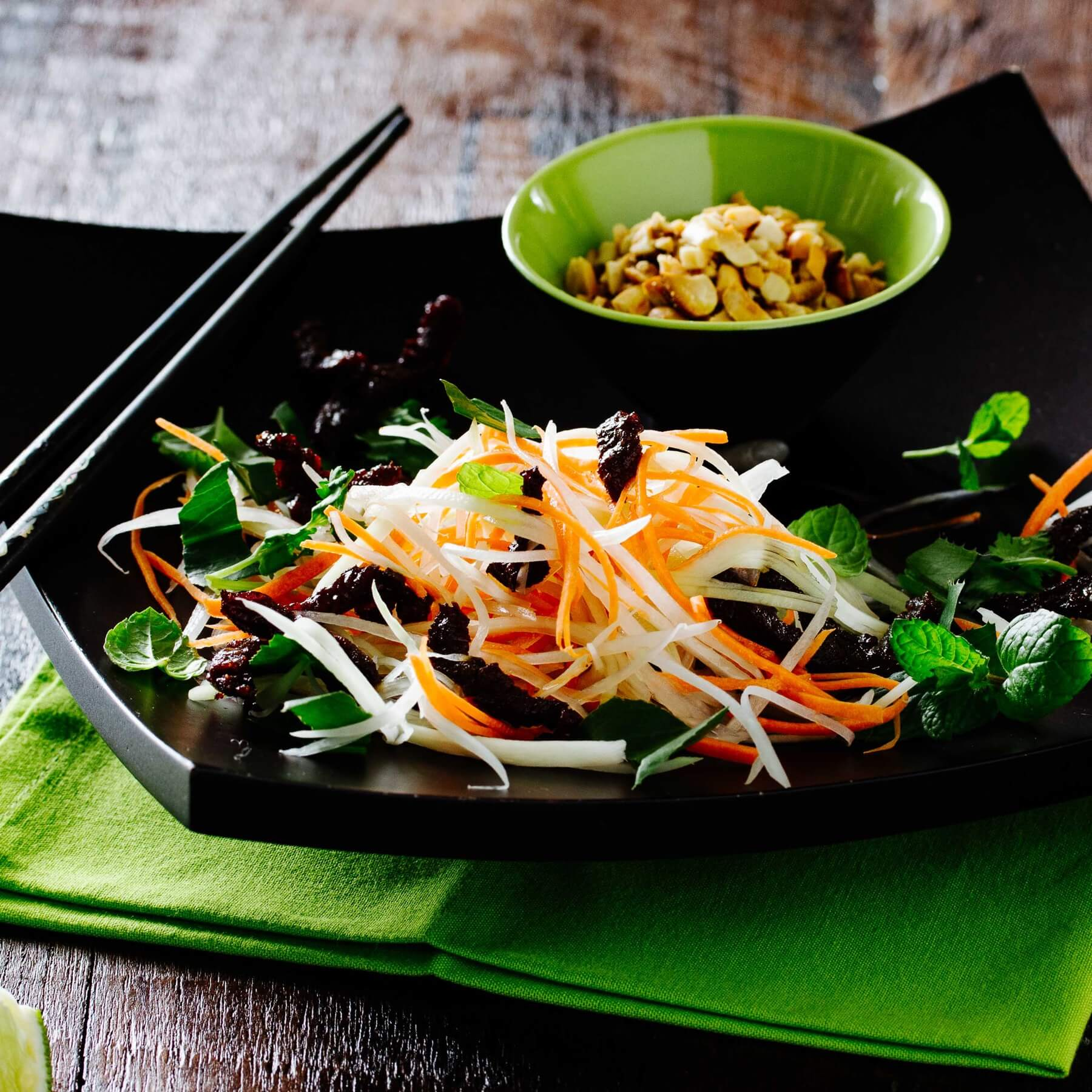 Vietnamesischer Grüner Papayasalat