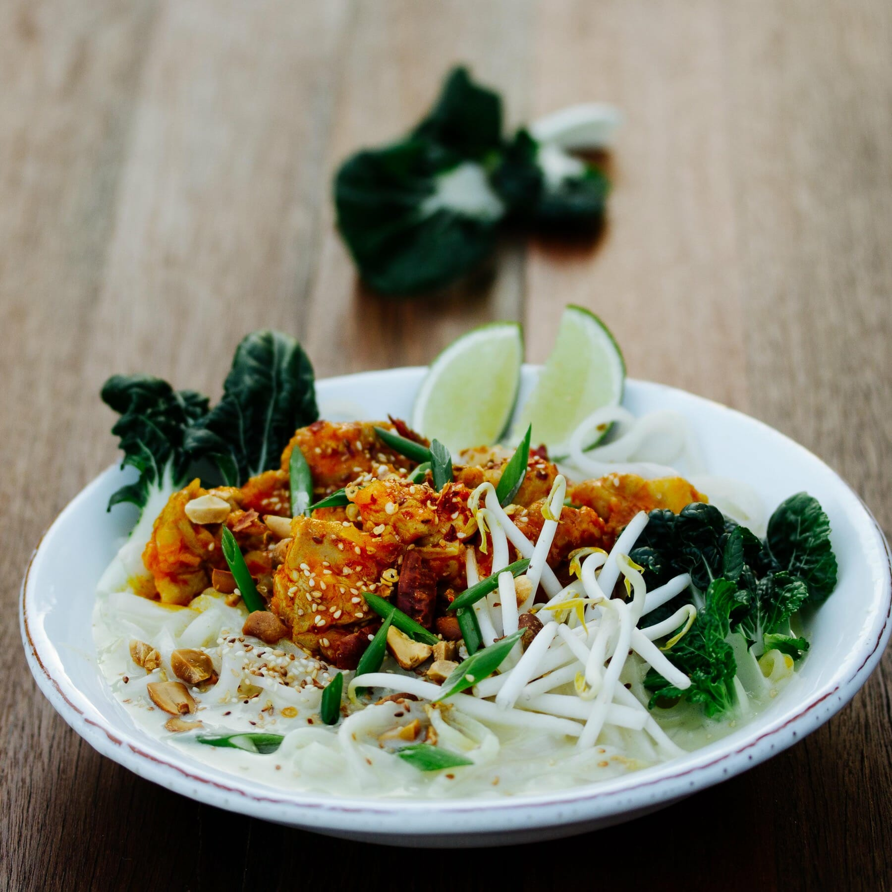 Burmesische Nudelsuppe mit Shan Tofu - Shan Khauk Swe To Hpu Nway