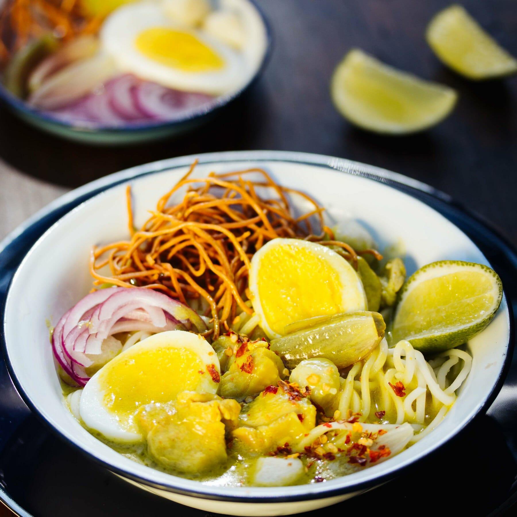 Burmesische Curry Nudelsuppe - Ohn No Khaut Swe