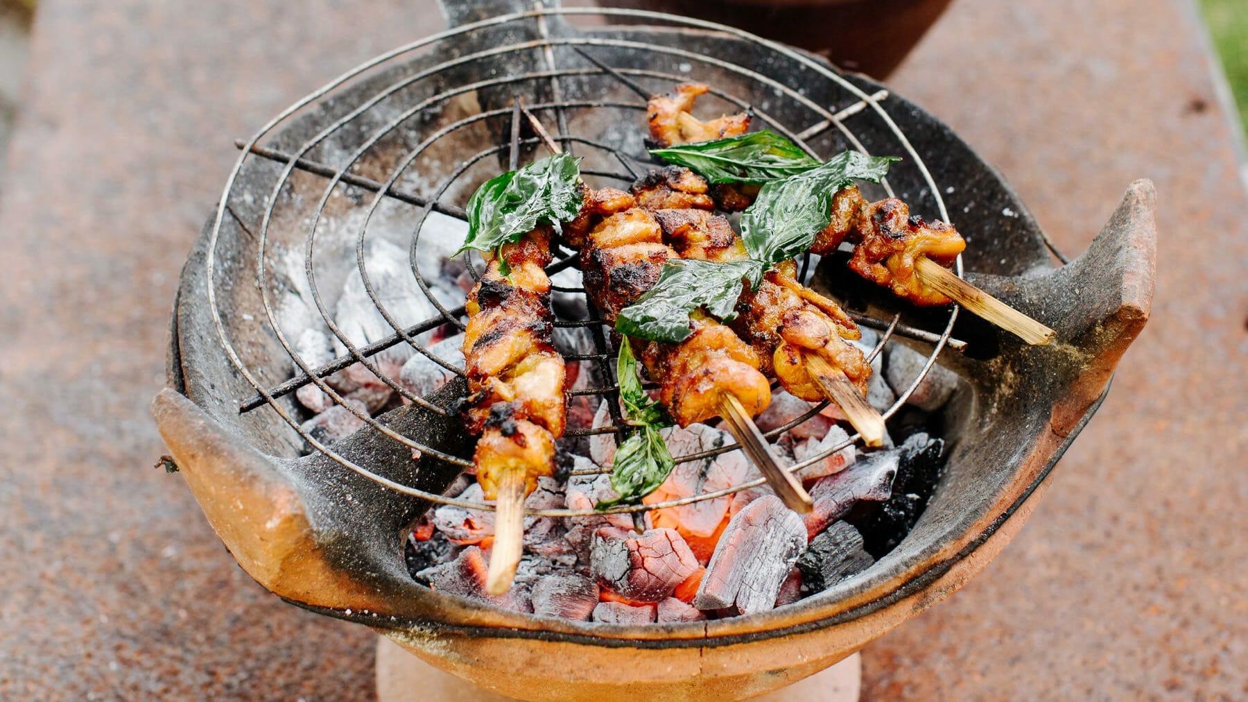 Thai-Hähnchenspieße mit grünem Curry