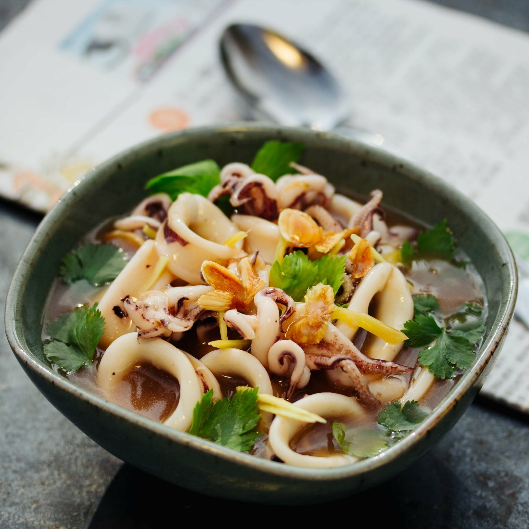 Suppe mit zartem Tintenfisch - You Yu Tang