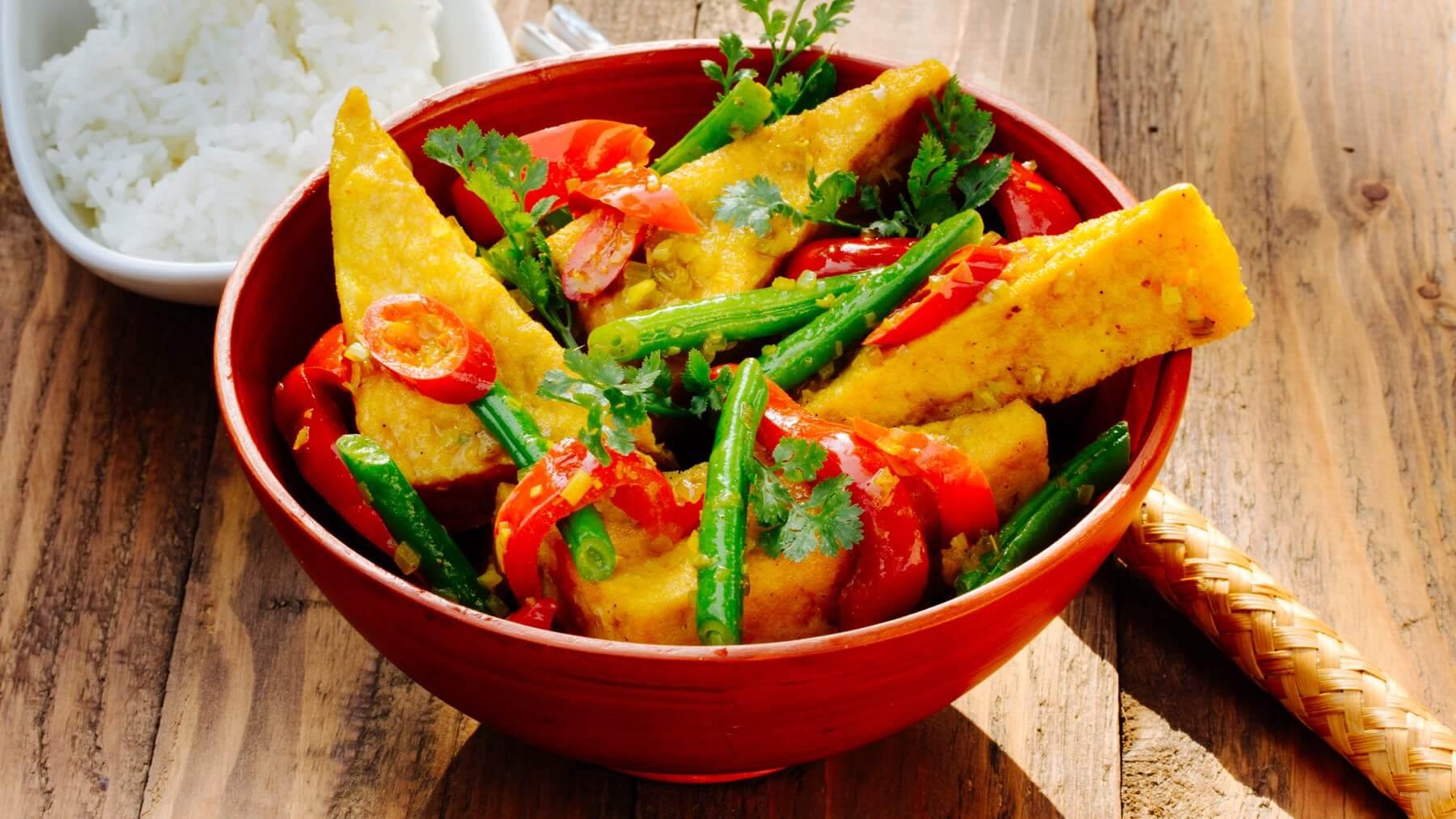 Tofu mit Zitronengras