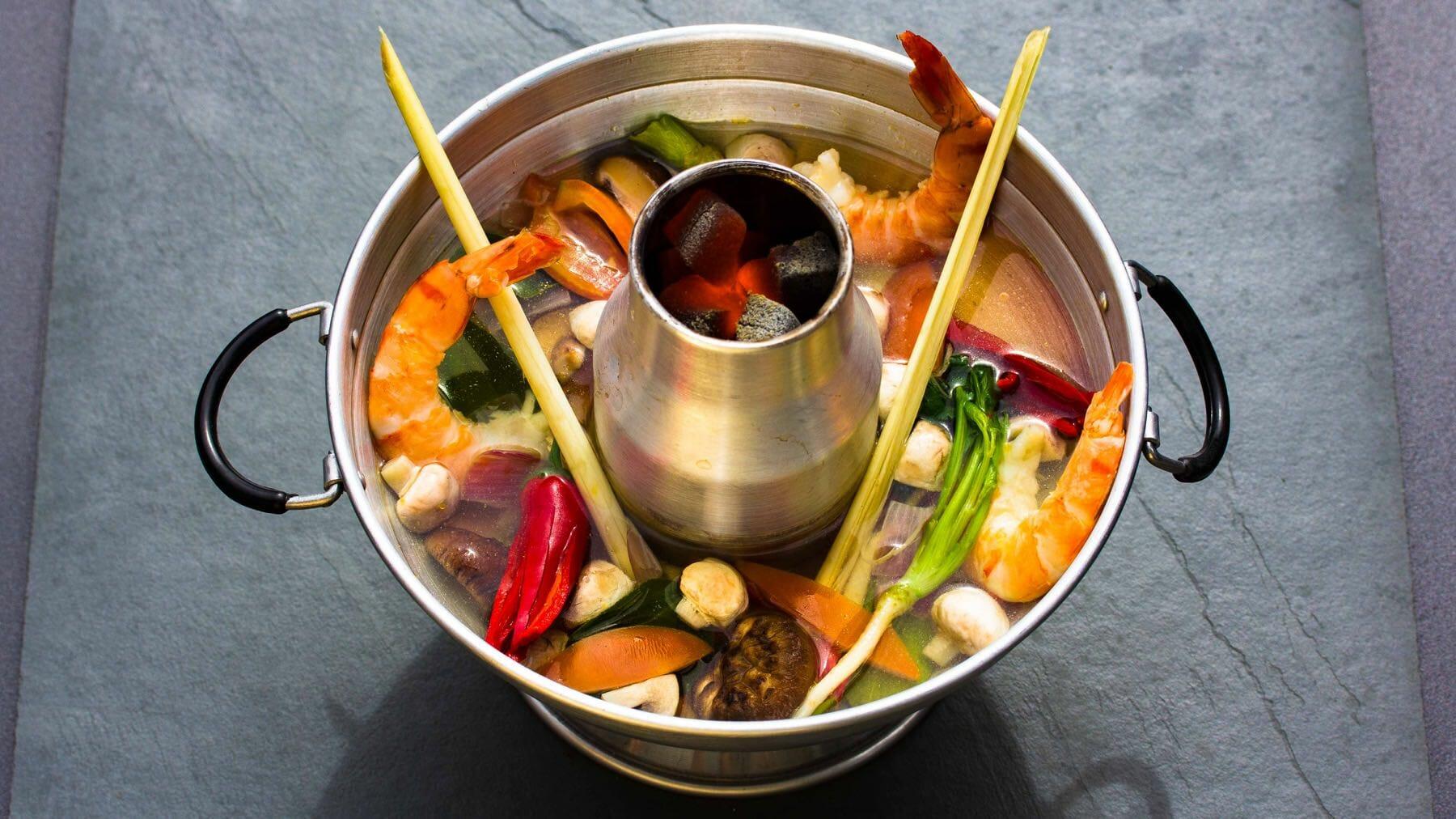 Scharf-Saure Garnelensuppe aus Thailand – Tom Yam Gung