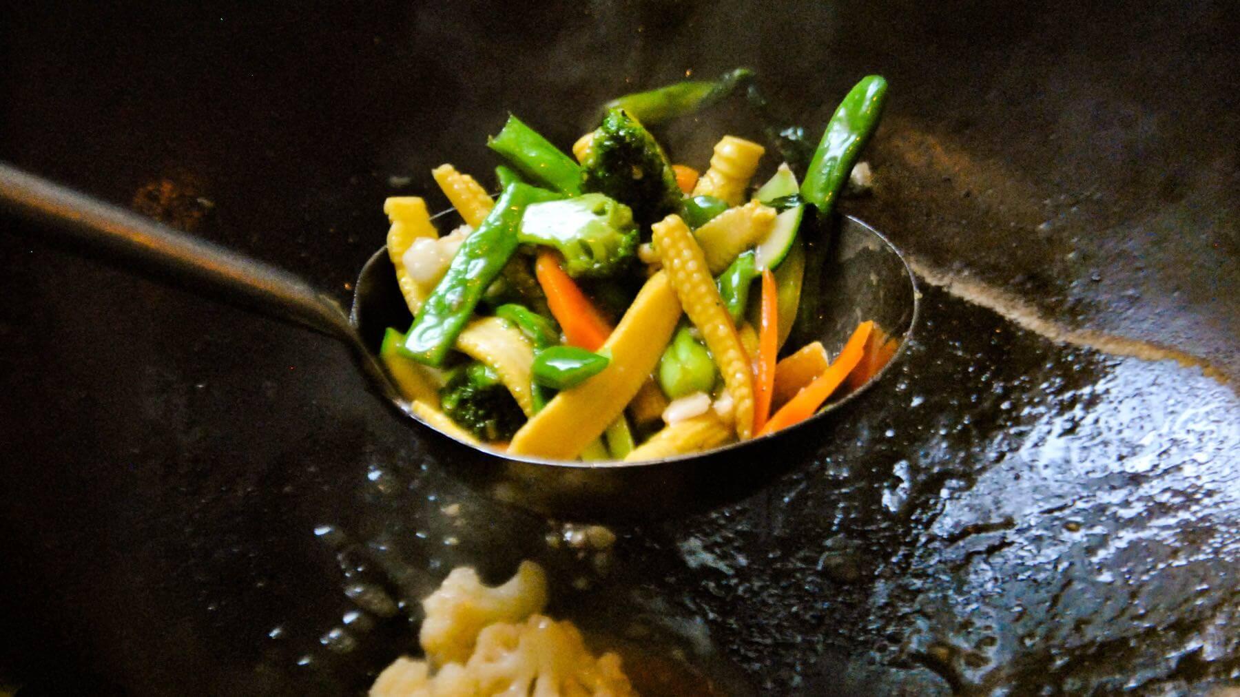 Asiatisches Gemüse aus dem Wok